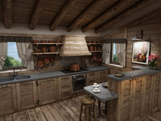 Rustic style kitchen by studiosagitair Rustic