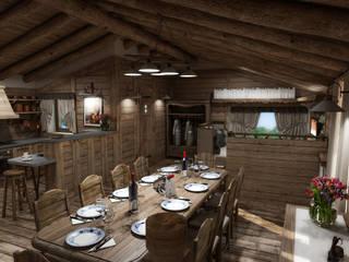 Rustik Yemek Odası studiosagitair Rustik