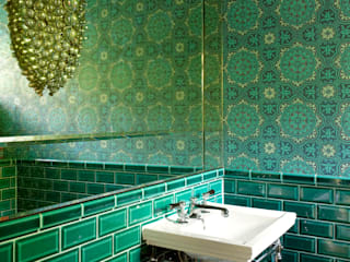 Richmond, 1930's Refurbishment: eclectic Bathroom by Amory Brown Ltd