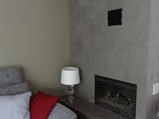 Wände mit Charakter Salas de estilo moderno