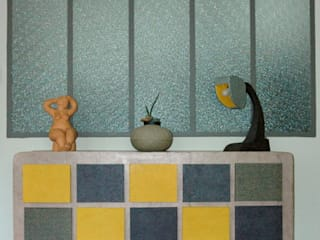 """Commode en carton type """"semainier"""" - 15 tiroirs par Effets Pourpres Moderne"""