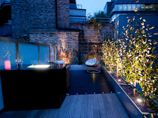 London Bridge, London Modern Balkon, Veranda & Teras Urban Roof Gardens Modern