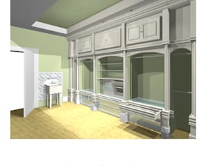 CAD DRAWING (ARITSTS IMPRESSION): country Dressing room by 2A Design