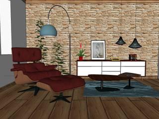 Zona de lectura. Salones de estilo ecléctico de MUMARQ ARQUITECTURA E INTERIORISMO Ecléctico