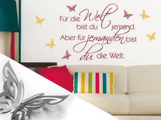 Wandtattoo - Für die Welt... + 3D Deko-Schmetterlinge:  Wände & Boden von K&L Wall Art