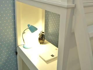 Gemütlicher Schlafplatz und Lernecke zugleich erhalten Sie mit unserem Multifunktions- Hochbett JOCKEY von Dannenfelser Kindermöbel GmbH Skandinavisch