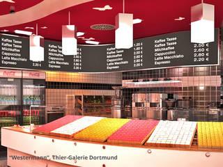 Innenarchitektonische Gesamtkonzeption Bäckerei Westermann - Dortmund:  Gastronomie von GID│GOLDMANN - Innenarchitekt in Sehnde
