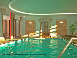 "Schwimmbadsanierung und neue Innenarchitektur im Hotel ""Noltmann-Peters"" - Bad Rothenfelde Moderne Hotels von GID│GOLDMANN-INTERIOR-DESIGN - Innenarchitekt in Sehnde Modern"