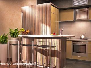"""Innenarchitektonische Neugestaltung Apartment """"I.P."""" - Wolgograd, Russland:  Küche von GID│GOLDMANN - Innenarchitekt in Sehnde"""