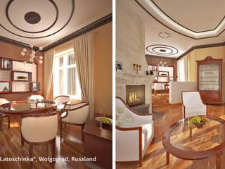 """Innenarchitektonische Neugestaltung Villa """"Latoschinka"""" - Wolgograd, Russland:  Esszimmer von GID│GOLDMANN - Innenarchitekt in Sehnde"""
