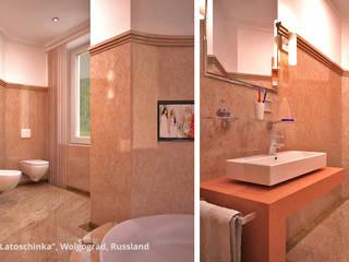 """Innenarchitektonische Neugestaltung Villa """"Latoschinka"""" - Wolgograd, Russland:  Badezimmer von GID│GOLDMANN - Innenarchitekt in Sehnde"""