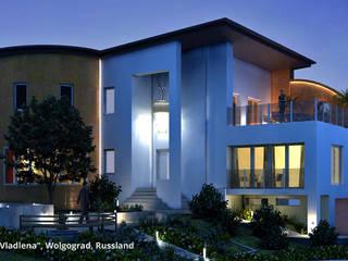 """Architektonische und innenarchitektonische Neugestaltung Villa """"Vladlena"""" - Wolgograd, Russland:  Häuser von GID│GOLDMANN - Innenarchitekt in Sehnde"""