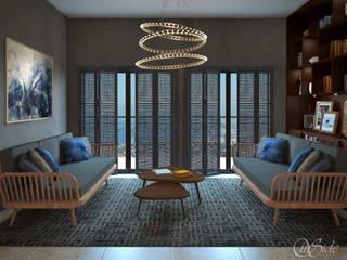 Apartment in Lebanon:  Living room by Inside Studio Ltd