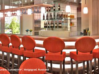 """Innenarchitektonische Neugestaltung eines Clubs mit Restaurant """"Lukomorie"""" - Wolgograd, Russland:  Gastronomie von GID│GOLDMANN - Innenarchitekt in Sehnde"""