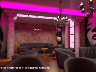 """Innenarchitektonische Gesamtkonzeption Disco """"Club Amsterdam 1"""" - Wolgograd, Russland:  Gastronomie von GID│GOLDMANN - Innenarchitekt in Sehnde"""