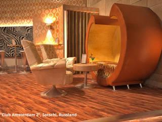 """Innenarchitektonische Gesamtkonzeption Disco """"Club Amsterdam 2"""" - Sotschi, Russland:  Gastronomie von GID│GOLDMANN - Innenarchitekt in Sehnde"""