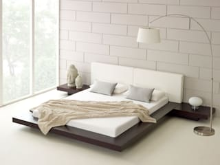 Harmonia Walnut Bed:  Bedroom by Living It Up