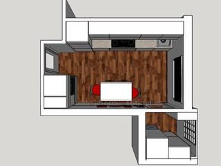 Cocina moderna en menos de 10 metros cuadrados Cocinas de estilo moderno de MUMARQ ARQUITECTURA E INTERIORISMO Moderno