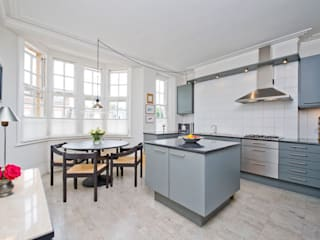 Apartment, Little Boltons, London Dapur Modern Oleh 4D Studio Architects and Interior Designers Modern