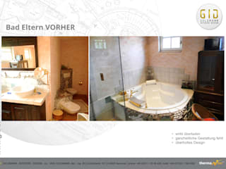 Vorher:  Badezimmer von GID│GOLDMANN - Innenarchitekt in Sehnde
