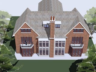 New House in Surrey Vernacular Style Classic style houses by 4D Studio Architects and Interior Designers Classic