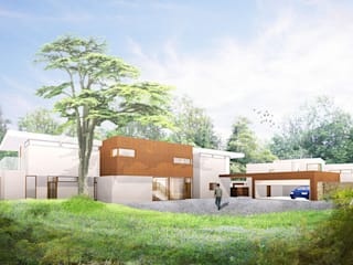 ​Mill Road, South Holmwood, Mole Valley, Surrey 4D Studio Architects and Interior Designers Modern Houses