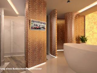 3D-Visualisierung Badsanierung:  Badezimmer von GID│GOLDMANN - Innenarchitekt in Sehnde