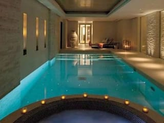 A House in St Saviours Church, Knightsbridge, London:  Pool by 4D Studio Architects and Interior Designers