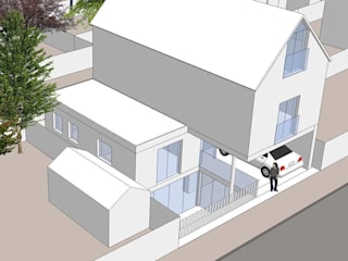 New House in Wandsworth 4D Studio Architects and Interior Designers モダンな 家
