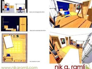12 Year Old Boy Bedroom Nik A Ramli Interior Design Modern style bedroom