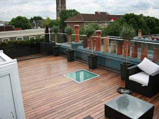 Notting Hill Apartment Eclectic style balcony, veranda & terrace by 4D Studio Architects and Interior Designers Eclectic