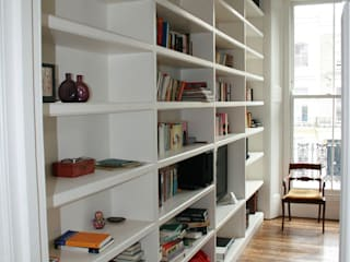 Notting Hill Apartment Oficinas y bibliotecas de estilo ecléctico de 4D Studio Architects and Interior Designers Ecléctico