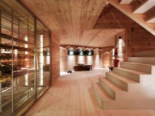 Chalet Gstaad:  Wine cellar by Ardesia Design