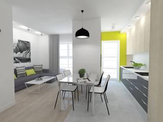 Salle à manger moderne par WNĘTRZNOŚCI Projektowanie wnętrz i mebli Moderne