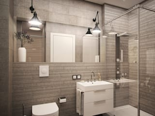 Industrial style bathroom by цуккини Industrial