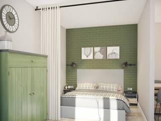 трехкомнатная квартира: Спальни в . Автор – цуккини