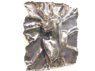 """Pannello di arredamento in ceramica smaltata bronzo - """"Eterea"""":  in stile  di Catia clinaz"""