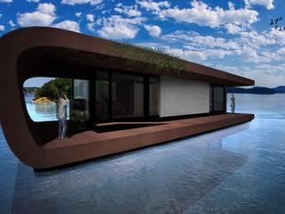 casa curva Yacht & Jet in stile moderno di Giovanni Lucentini piccolo studio di architettura di 7 mq. Moderno