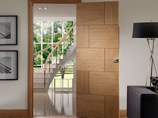 Ravenna Oak Internal Door Prefinished Modern Doors Ltd Windows & doorsDoors Engineered Wood Wood effect