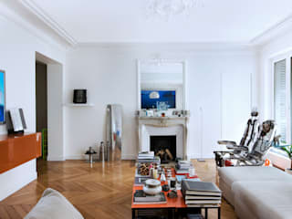 Eclectic style living room by blackStones Eclectic