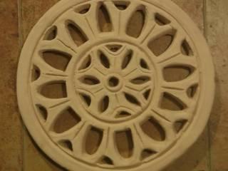 Rejilla de ventilación realizada en cerámica blanca.:  de estilo  de Rejillas Oubiña