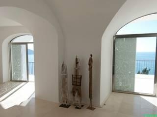 Appartamento dentro le mura Soggiorno in stile mediterraneo di laboratorio di architettura - gianfranco mangiarotti Mediterraneo