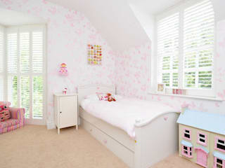 Little Girls Bedroom:  Nursery/kid's room by Lime Lace Eclectic Interiors