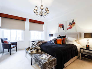 Master Bedroom/ Mayfair, London:  Bedroom by FADI CHERRY | design studio