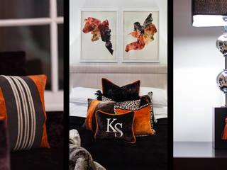 Master Bedroom/ Mayfair, London: modern Bedroom by FADI CHERRY | design studio