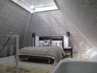 Modernist townhouse renovation & redesign: modern Bedroom by WALK INTERIOR ARCHITECTURE + DESIGN