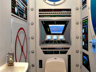 Baños de estilo moderno de Atelier Frederic Gracia Moderno