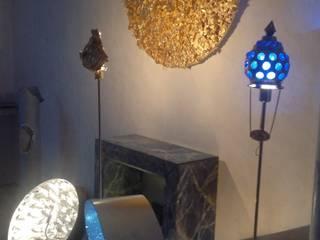 Lampen mit Blattgold -Silber -Strass -Glas von Illusionen mit Farbe Ausgefallen