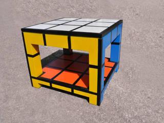 Rubik tavolino basso da fumo con cassetto di Studio MP Moderno