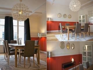 Salle à manger appartement haussmannien: Salle à manger de style  par PATRICIA FRANCOIS